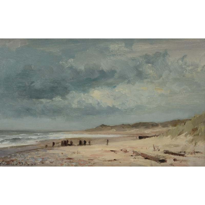 Edward Seago (British 1910-1974), The Beach near Winterton, oil on board