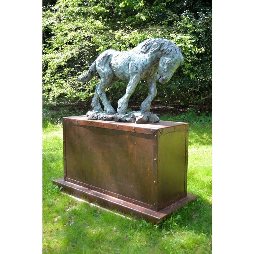 Inline Image - LOT 205: PHILIP BLACKER, (B. 1949), FLANDERS MUD, A BRONZE MODEL OF A HEAVY HORSE | EST. £20,000-30,000 (+FEES)