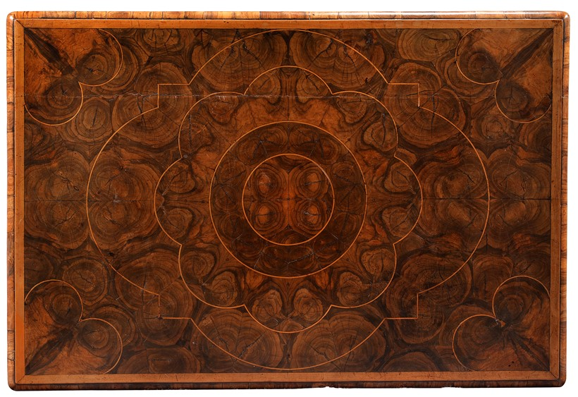 Inline Image - LOT 4: AN ANGLO-DUTCH CARVED WALNUT, OAK AND OYSTER VENEERED SIDE TABLE, LATE 17TH CENTURY | EST. £1,000-1,500 (+FEES)