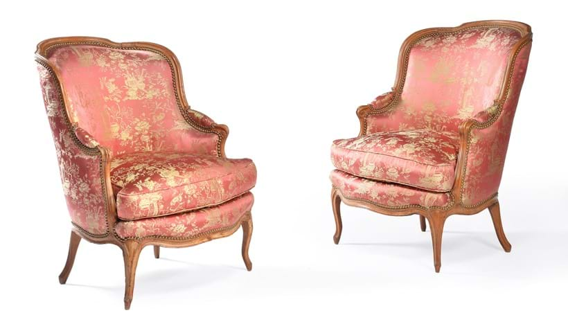 Inline Image - LOT 76: A PAIR OF LOUIS XV CARVED BEECH ARMCHAIRS, CIRCA 1760. PROVENANCE: PROPERTY FROM A PRIVATE COLLECTION | EST. £800-1,200 (+FEES)