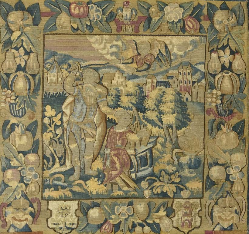 Inline Image - LOT 22: A FRANCO-FLEMISH, PROBABLY BRUSSELS, TAPESTRY PANEL DEPICTING THE SACRIFICE OF ISAAC, MID 17TH CENTURY | EST. £400-600 (+FEES)
