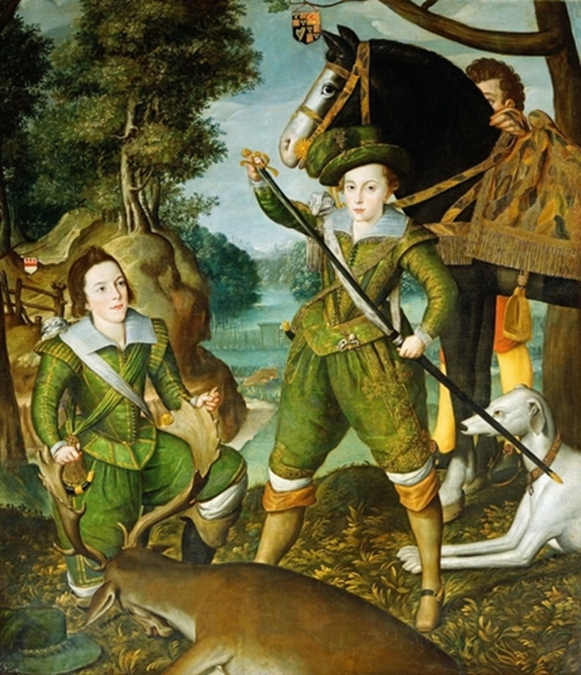 Inline Image - Robert Peake (active 1580-1635) Henry, Prince of Wales with Robert Devereux, 3rd Earl of Essex in the Hunting Field c.1605
