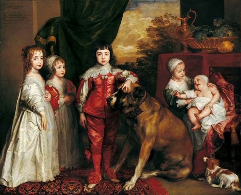 Inline Image - Anthony van Dyck (1599-1641) The Five Eldest Children of Charles I Signed and dated 1637. Courtesy of The Royal Collection