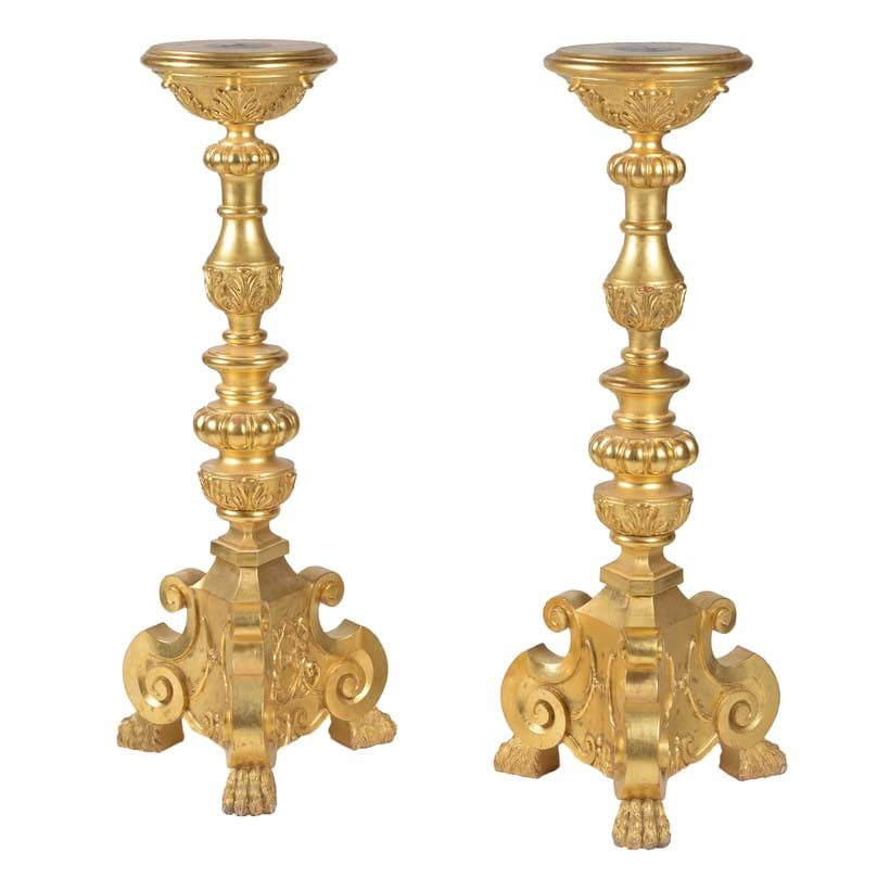Inline Image - Lot 184: A pair of giltwood torchere stands from the workshops of Thomas Messel | Est. £500-800 (+fees)
