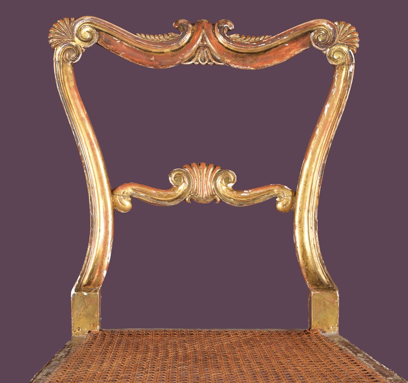 Inline Image - Lot 15: George IV gilt wood side chairs, attributed to Gillows of Lancaster | Est. £500-700 (+fees)
