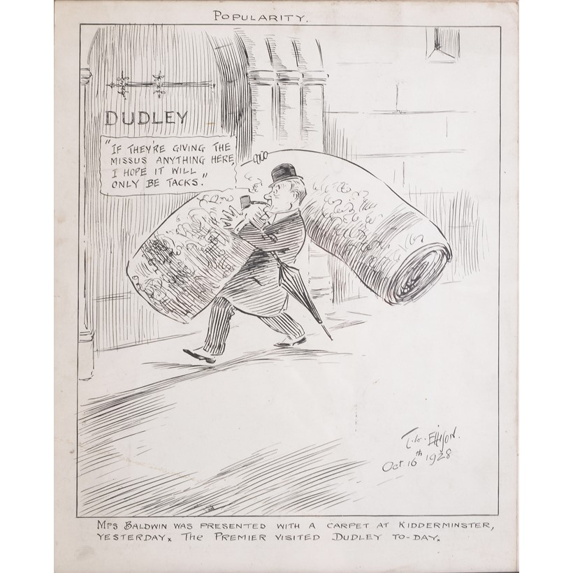 Inline Image - A satirical cartoon after T. W. Ellison, 'Popularity' | Part of lot 284