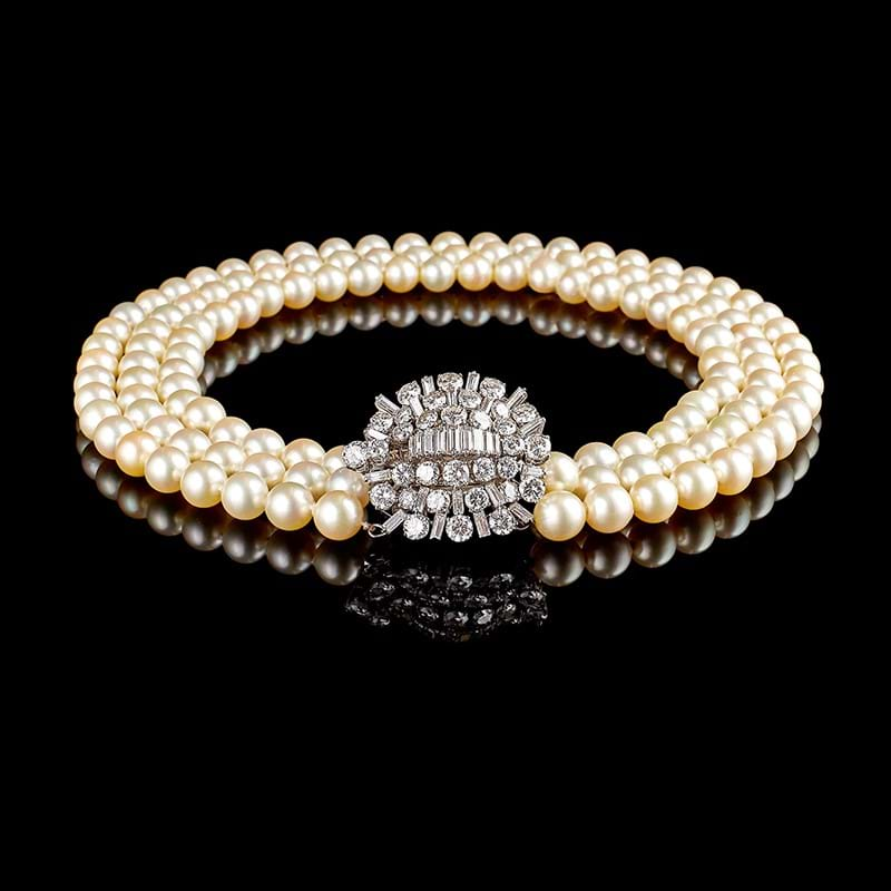 A 1950s cultured pearl necklace by Boucheron, Paris