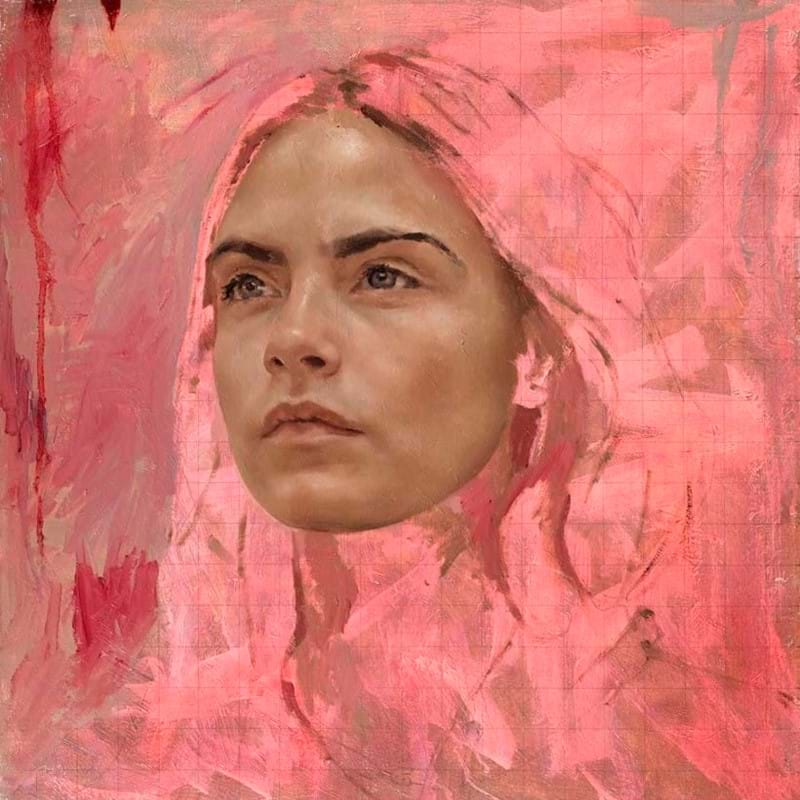 Jonathan Yeo's Cara Delevingne portrait to be sold at charity auction