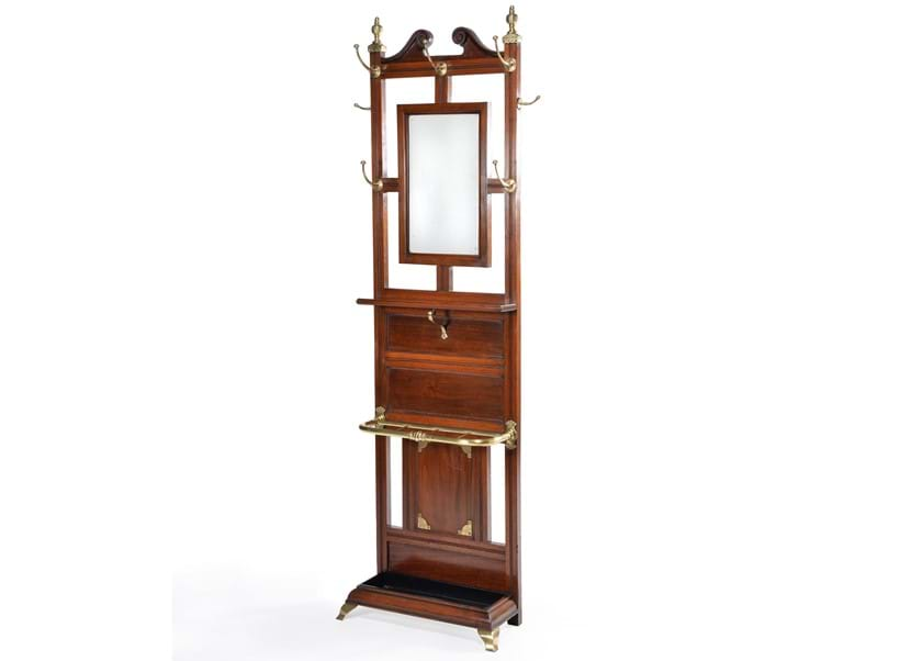 Inline Image - Lot 156: A late Victorian walnut and brass mounted hall stand | Est. £2,000-3,000 (+ fees)