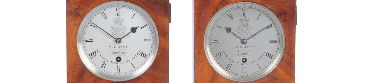 Pair of rare Vulliamy clocks to be sold at auction