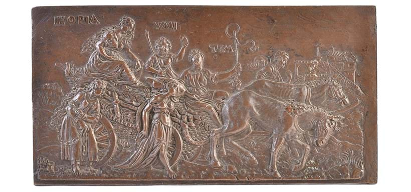 Inline Image - Lot 69: A bronze plaquette depicting an Allegory of the Triumph of Poverty | Est. £300-500 (+fees)
