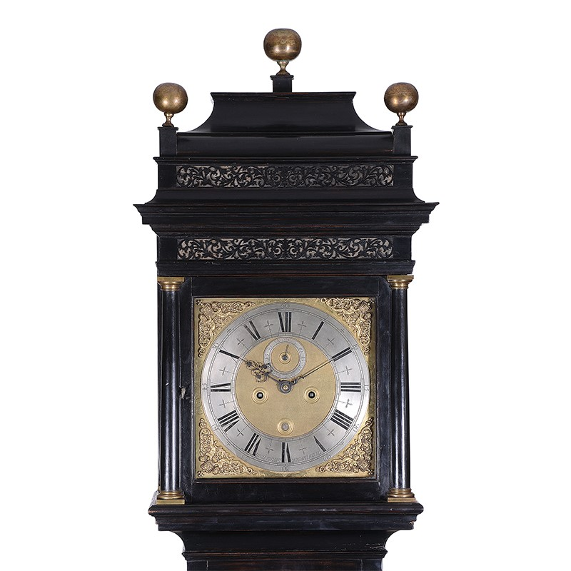An important Queen Anne ebonised eight-day longcase clock, Michael Knight, London, circa 1705