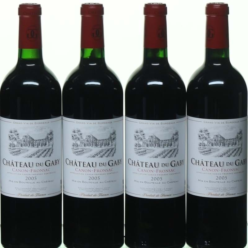 Rare bordeaux wine from Chateau Gaby, Canon-Fronsac