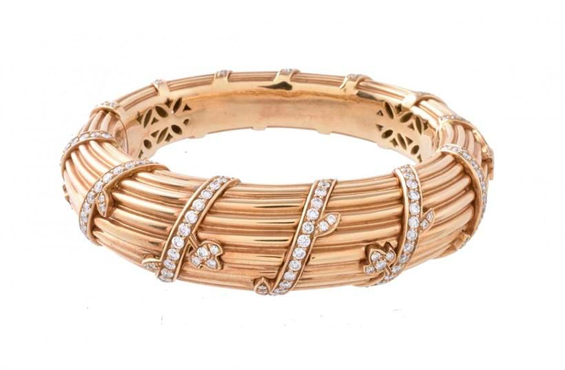 Inline Image - A 1990s gold and diamond bangle by Cartier | Est. £7,000-10,000 (+ fees)
