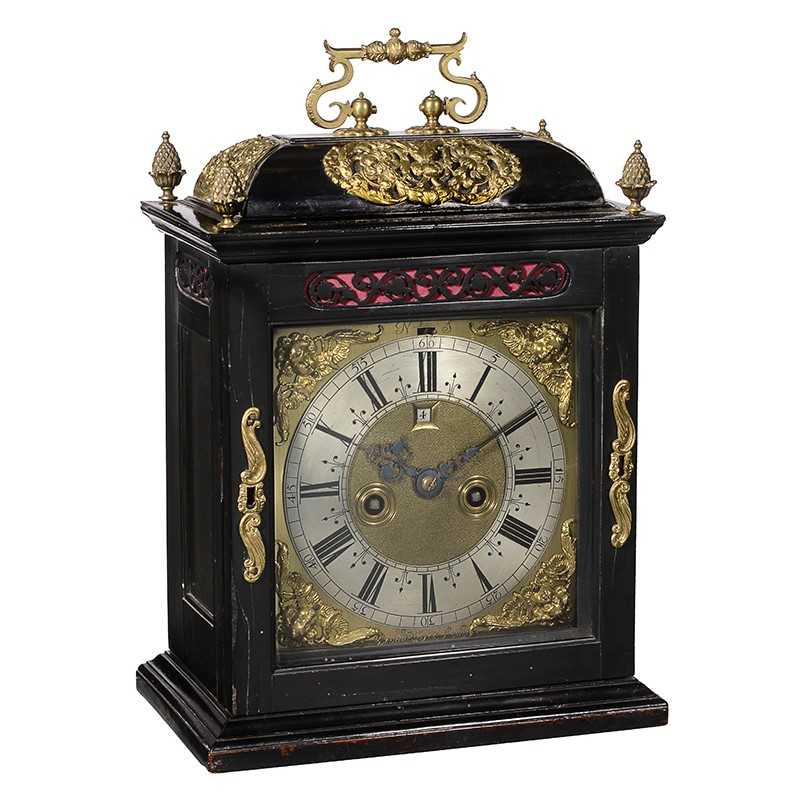 A fine William III brass mounted ebony table clock with pull-quarter repeat, Brounker Watts, London, circa 1690-95