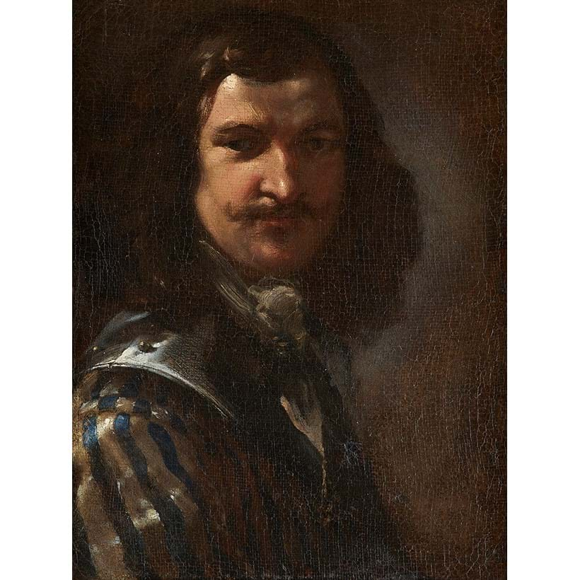 Inline Image - Attributed to Salvator Rosa (Italian 1615-1673), 'Portrait of a gentleman sold to be Masaniello', Oil on canvas | Sold for £16,250