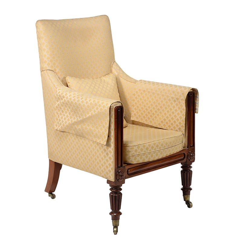 A Regency mahogany armchair, circa 1820, attributed to Gillows