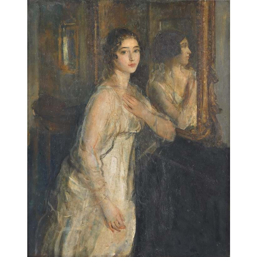 Inline Image - Ambrose McEvoy (British 1878-1927), 'Miss Violet Henry', Oil on canvas | Est. £7,000-10,000 (+fees), Modern and Contemporary Art, 19 March 2020