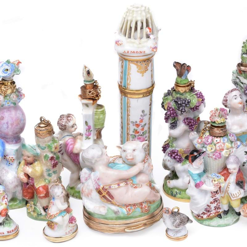 A Rare Collection of 18th Century English Porcelain 'Toys'