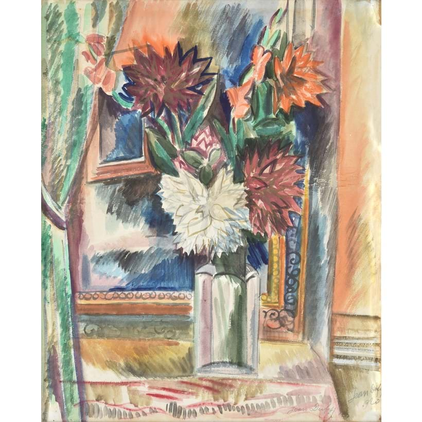 Inline Image - Jean Dufy (French 1888-1964), 'Bouquet de Fleurs', Pencil and watercolour on paper laid to board | Est. £7,000-10,000 (+fees)