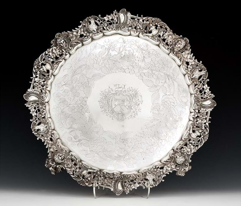 Inline Image - Lot 18: An impressive George III silver circular salver by Paul Storr | Est. £6,000-8,000 (+fees)