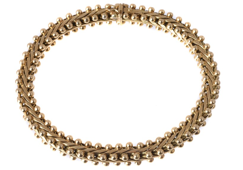 Inline Image - Lot 175: An 18 carat gold bracelet by Carlo Weingrill | Est. £700-1,000 (+fees)