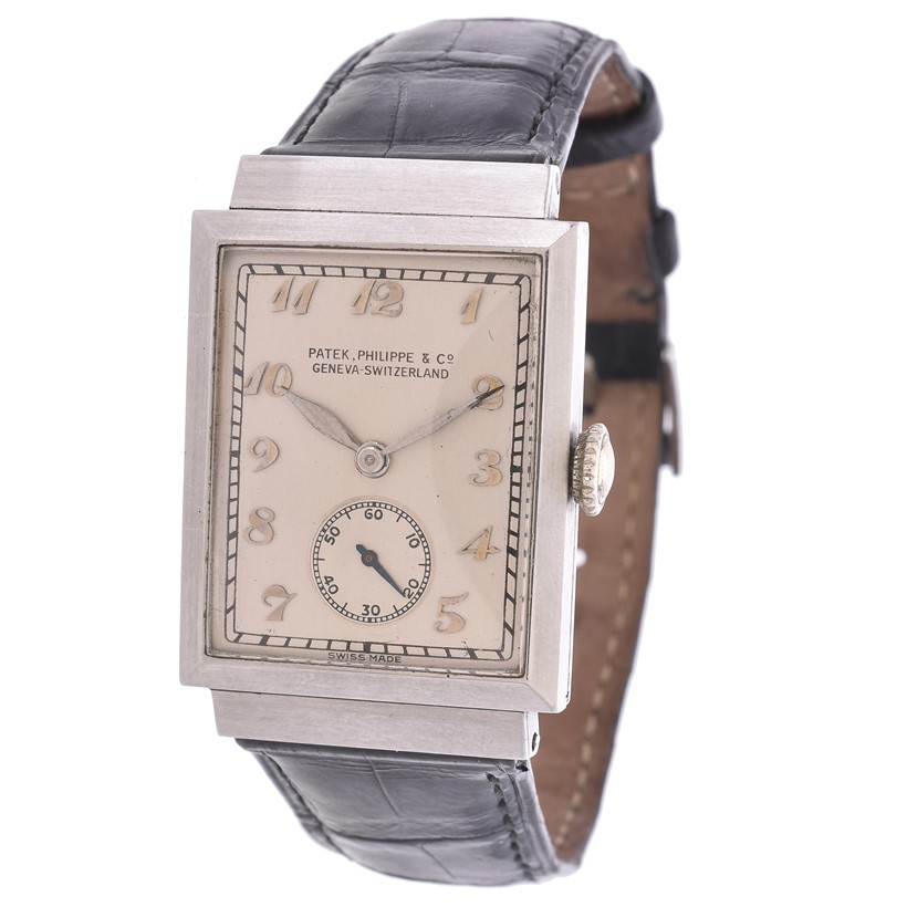 Inline Image - Lot 273: Y Patek Philippe, a stainless steel wrist watch, no. 611020, circa 1940 | Est. £5,000-7,000 (+fees)