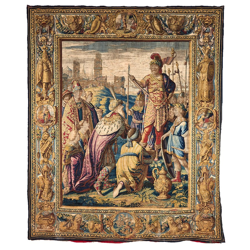 Inline Image - Lot 312: A Flemish historical tapestry, probably Brussels, after Karel van Mander II, second quarter 17th century, The Triumph of Mark Anthony over the Parhians, from the Mark Antony and Cleopatra cycle | Sold for £150,000