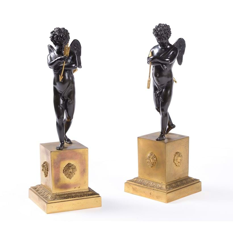 Inline Image - Lot 150: A pair of Empire patinated bronze and ormolu models of Erotes, circa 1815 | Est. £2,500-3,500 (+fees)