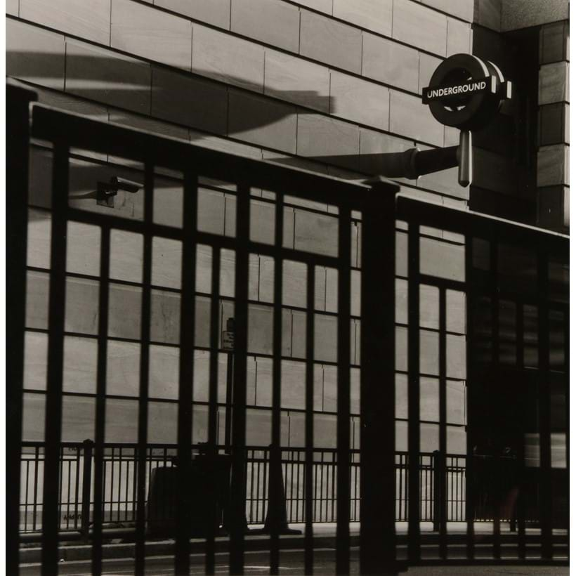 Inline Image - Anthony Jones (b. 1962), 'Underground Sign, 1999', Gelatin silver print, signed