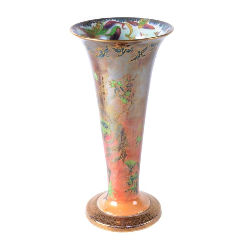 Inline Image - (Fig. 5) Daisy Makeig-Jones for Wedgwood, a Fairyland Lustre trumpet vase