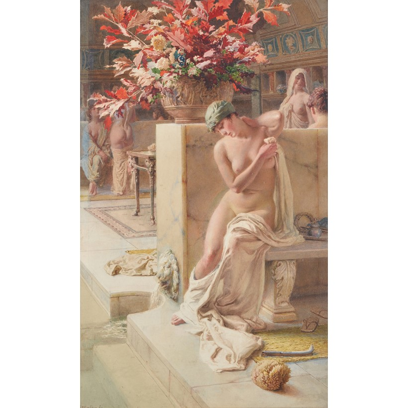 Inline Image - Fortunino Matania (Italian 1881-1963), 'At the baths', Watercolour and pencil | Sold for £6,000