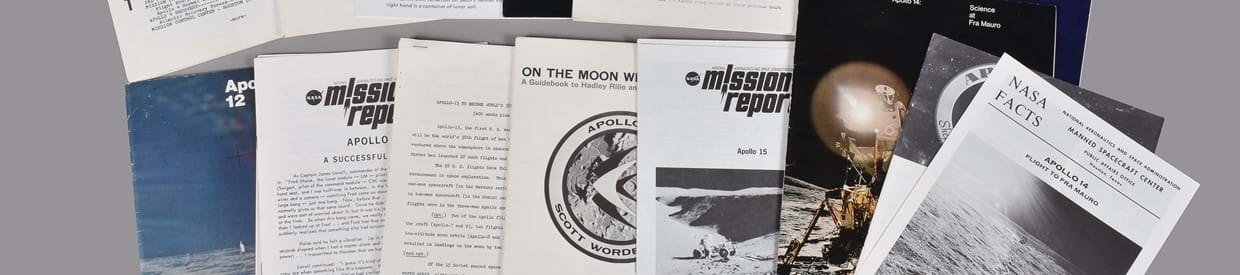 Lot 45: Apollo missions.  Assorted vintage publications and NASA ephemera