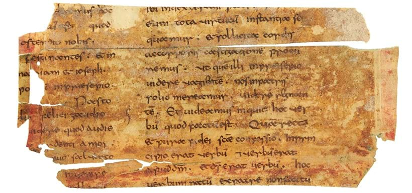 Inline Image - Lot 18: Bede, Homilies, in Latin, cuttings from a manuscript in a fine Anglo-Saxon minuscule on parchment, [most probably north-eastern France (perhaps Arras), first quarter of the ninth century] | Est. £20,000-30,000 (+fees)