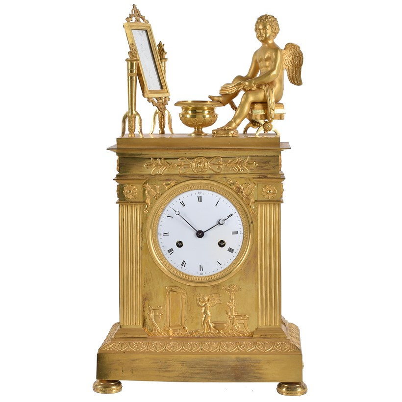 Inline Image - Lot 191: A French Empire ormolu mantel clock, early 19th century | Est. £1,000-1,500 (+fees)