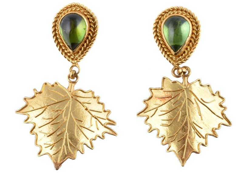 Inline Image - A pair of peridot leaf earrings by Natalia Josca | Sold for £400 (hammer price), November 2019