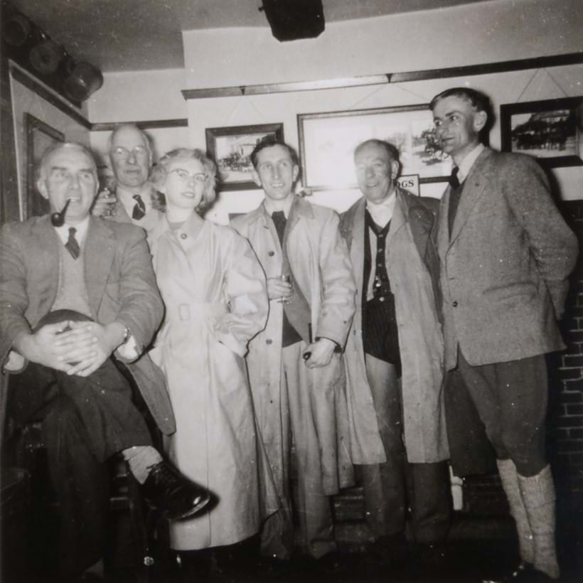 Inline Image - F.H. Cole, R.G. Spence, Evelyn Robbins, Don Martin, Wally Barrett and D.H. Barton