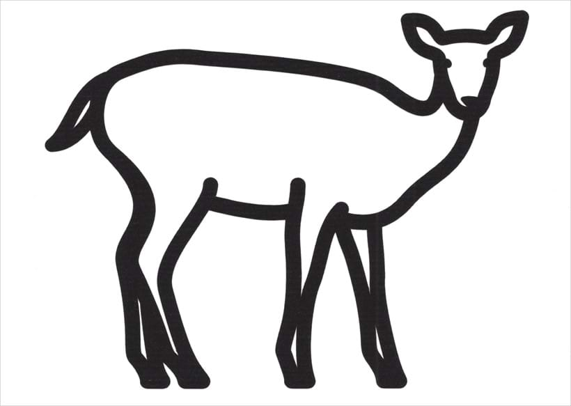 Inline Image - Lot 50: Julian Opie, 'Deer 3, 2020', Vinyl on paper | Sold for £2,400