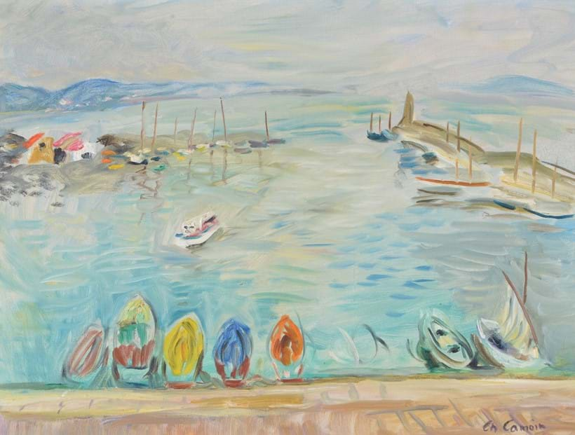 Inline Image - Lot 143: λ Charles Camoin (French 1879-1965), 'Port de Saint Tropez', Oil on canvas | Est. £12,000-18,000 (+fees)