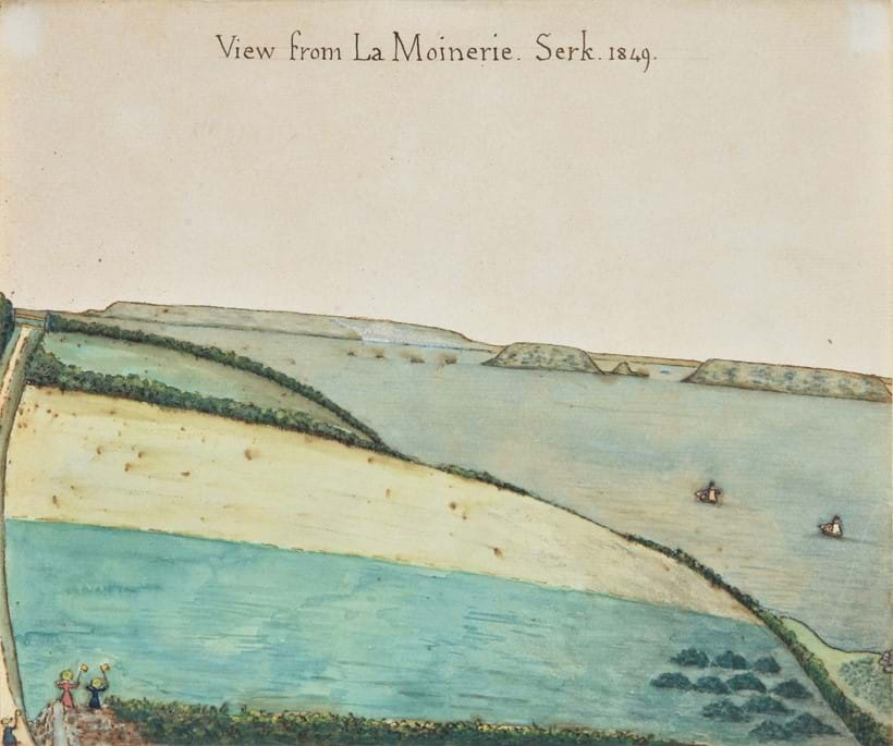 Inline Image - Lot 120: Channel Islands School (19th century), 'A view of La Moinerie, Serk, 1849', Pen, ink and watercolour | Est. £4,000-6,000 (+fees)