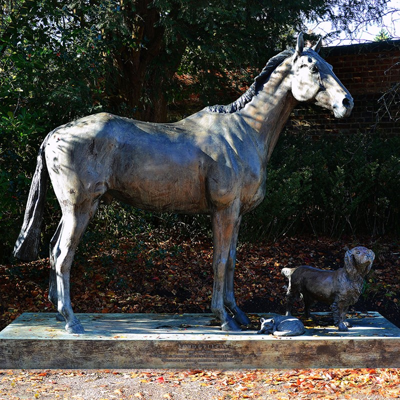 A Patinated Bronze Model of Racehorse, Lord Gyllene, by Sculptor Caroline Wallace up for Auction