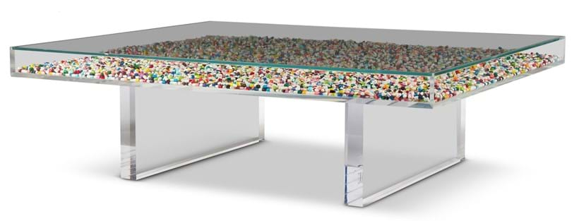 Inline Image - Lot 379:  A HAPPY PILL TABLE BY DIO DAVIES, CIRCA 2015 | Est. £1,500-2,500 (+fees) | Sold for £8,750