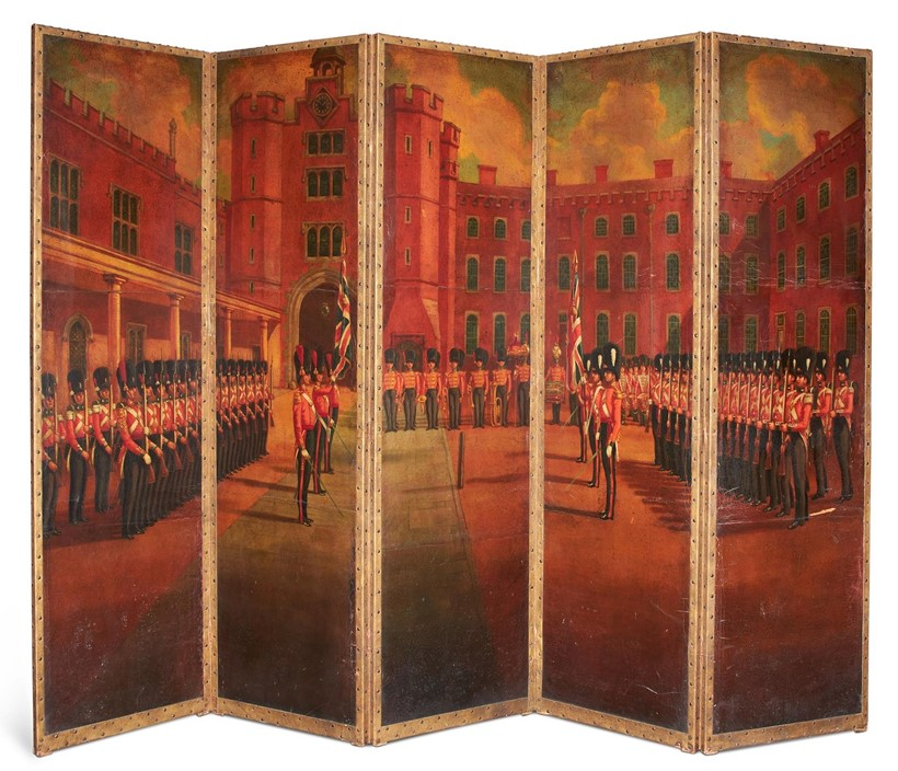 Inline Image - Lot 447: A LARGE FIVE FOLD SCREEN, LATE 19TH OR 20TH CENTURY | Est. £1,500-2,500 (+fees) | Sold for £8,750