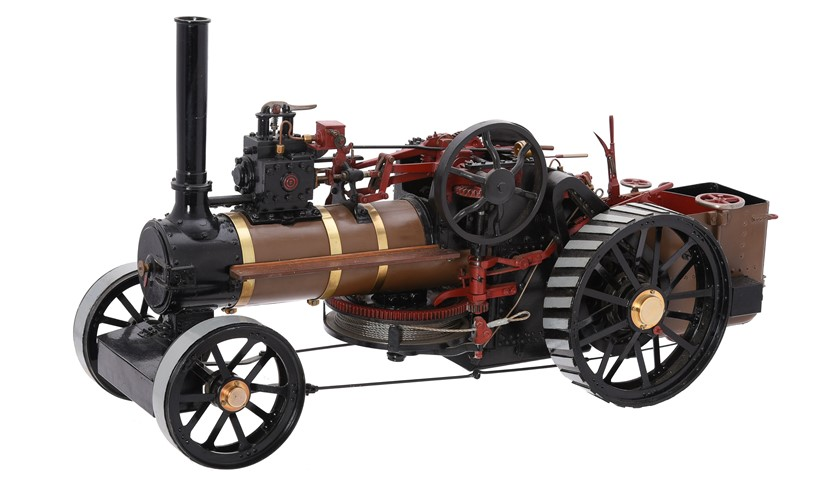 Inline Image - Lot 102: An exhibition standard 1 inch scale model of an agricultural ploughing engine | Est. £1,500-2,000 (+fees)