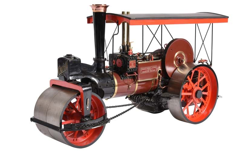 Inline Image - Lot 108: An exhibition standard 2 inch scale model of a Burrell 8 ton Road Roller | Est. £3,000-4,000 (+fees)