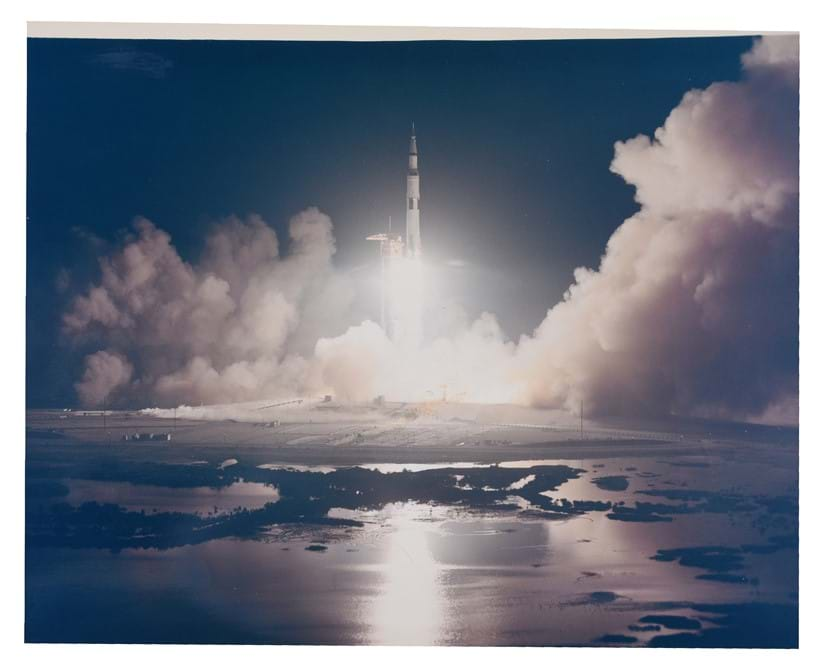 Inline Image - Lot 337: Apollo 17. Last lift off to the Moon [large format] | Est. £600-800 (+fees)
