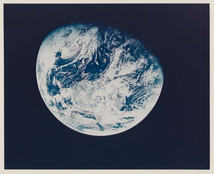Inline Image - Lot 121: Apollo 8. First photograph of the Earth taken by a human from beyond the Earth's orbit | Est. £2,000-4,000 (+fees)