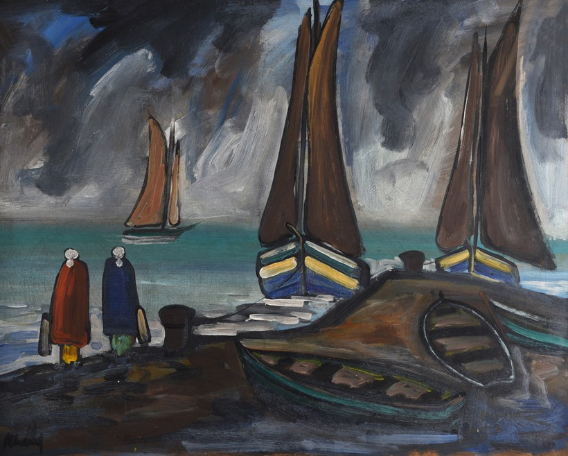 Inline Image - Lot 7: λ Markey Robinson (Irish 1917-1999), 'Coming Home', Oil on board | Est. £3,000-5,000 (+fees)